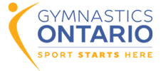gymnastics ontario sport starts here logo
