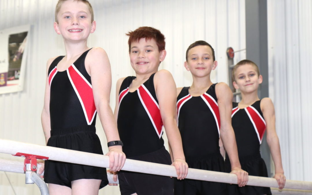 Gymnast shows steady improvement